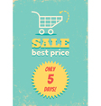 Best price shopping cart vector image