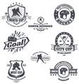 Hockey emblems vector image