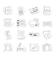 bank business finance and office icons vector image vector image