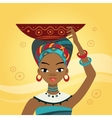 African Woman In Nation Clothes vector image