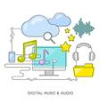 concept digital music audio vector image