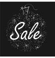 christmas sale on shiny ball on black background vector image