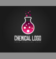 creative chemical colorful logo design for brand vector image