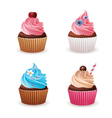 Cupcake set vector image