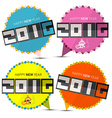 Happy New Year 2016 Paper Labels with Monkey vector image