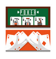 set of different playing cards combination royal vector image