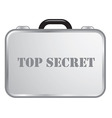 Steel briefcase top secret vector image