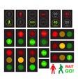 traffic lights for cars and pedestrians vector image