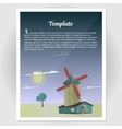 Booklet flyer with a windmill vector image