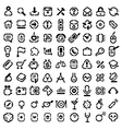 Stencil icons vector image vector image