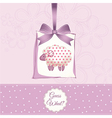 cute baby shower card with sheep vector image