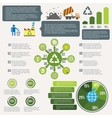 Garbage recycling infographic vector image