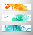 Set of abstract colorful web headers vector image vector image