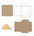 Sesame seeds packaging design kit Recycled paper vector image