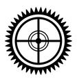 black and white radar icon graphic vector image