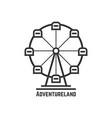 adventureland icon with black ferris wheel vector image