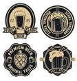 beer labels Vintage craft beer retro design vector image