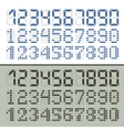 Digital font numbers vector image