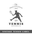 tennis label vector image
