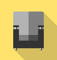 Armchair icon flat style vector image