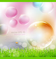 flying colorful bubbles vector image vector image