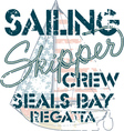 Sailing crew vector image