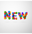 Colorful New Blots Title vector image vector image