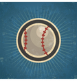 Retro Baseball vector image