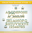 Beach Graphic Styles for Design use for decor text vector image