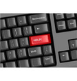 keyboard with help vector image