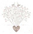 Tree hearts design vector image vector image