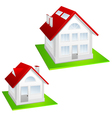 house with red roof vector image