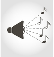 Speaker and notes sound icon vector image