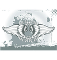 wings with floral vector image vector image