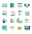 Science Equipment Icon Set vector image