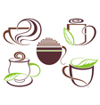 Cup of hot drink coffee tea vector image