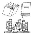 Books icon isolated vector image