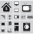 Electric Machine And House Icon Set vector image