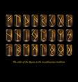golden rune metal runes vector image