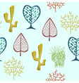 Seamless fantasy trees backdrop vector image
