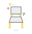 Thin line icons Chair vector image