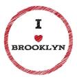 Slogan - I love Brooklyn eps vector image