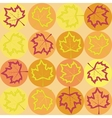 geometry pattern with maple leaves vector image