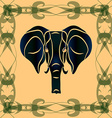 Negative silhouette of an elephant vector image