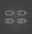 Battery set icons draw effect vector image