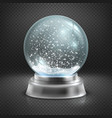 Christmas snow globe isolated on transparent vector image