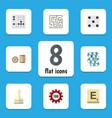Flat icon games set of mahjong poker labyrinth vector image