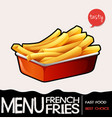 frenchfries in red tray vector image