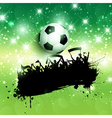 grunge football or soccer crowd background vector image
