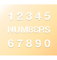 paper numbers vector image